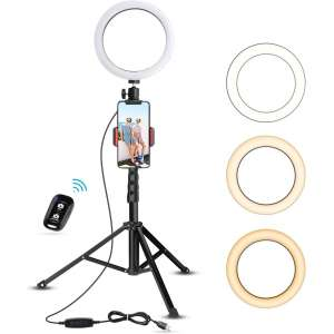 UBeesize Selfie Ring Light for YouTube Video and Photography