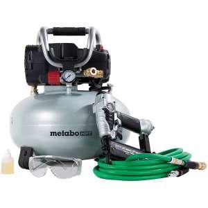 Metabo HPT KNT50AB Air Compressor Brad Nailer Combo Kit