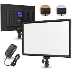 RALENO LED Soft Light Panel with an LCD Display