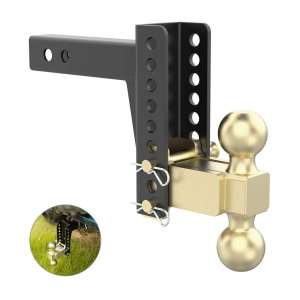 SANHIMA Adjustable 5-1/4-Inch Rise 6-Inch Drop Trailer Hitch Ball Mount,