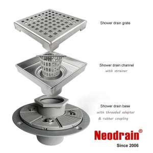 Neodrain Square Shower Drain