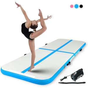 Murtisol Inflatable Gymnastics Training Mat with an Electric Pump