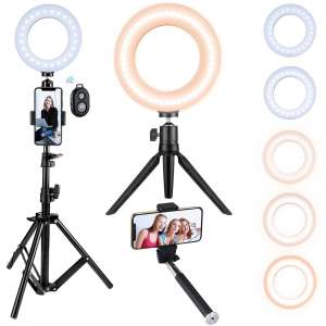 VicTsing Ring Light with a Tripod Stand for TIK Tok Shooting