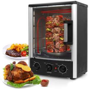 Nutrichef Upgraded Multi-Function Vertical Countertop Rotisserie Oven
