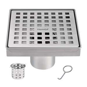 HomGif Square Shower Floor Drain