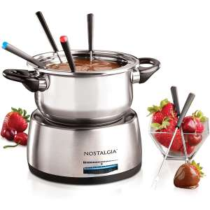 Nostalgia Stainless Steel 6-Cup Electric Fondue Pot