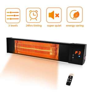 TRUSTECH Adjustable 1500W Patio Heater with 24H Timer