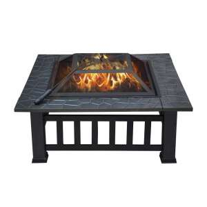 YAHEETECH Elegant Outdoor Fire Pit; 32 Inches