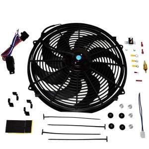 A-Team Performance Electric Cooling Fan 16inch with a Mounting Kit