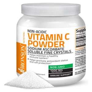 Bronson Non-Acidic Sodium Ascorbate Vitamin C Powder