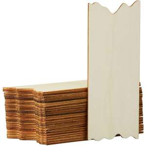 Juvale Unfinished Wood Plank 24-Pack