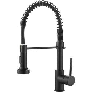 OWOFAN Kitchen Faucets, Matte Black