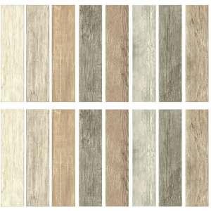 RoomMates Distressed Wood Plank, Multi-Colored