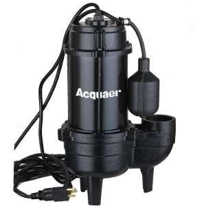 Acquaer Cast iron 3/4 HP Sewage Pump with Piggyback switch