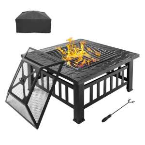 Bonnlo Outdoor Fire Pit, Metal Wood; Ideal for Patio