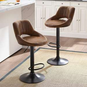 Art Leon Adjustable Bar Stools; Two Sets