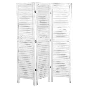 MyGift Hanging Louvered Room Divider