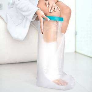 DOACT Adult Waterproof Leg Cast Cover for Bath