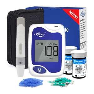 Lovia 50 Glucometer Strips Diabetes Testing Kit with Strips