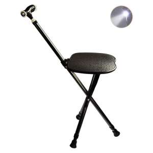 M-GYG Deluxe Massage Folding Cane Seat with Bright LED Light