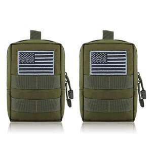 FUNANASUN 2 Pack Water-Resistant Compact Molle Pouches