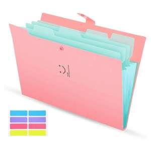 SKYDUE Expanding 5 Pockets File Folder