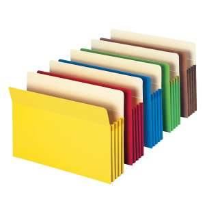 Smead File Pocket Straight Cut Expandable File Folder