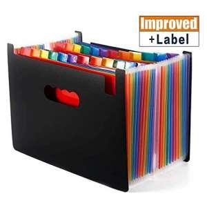 Zhajiang 24 Pockets High Capacity File Organizer Folder