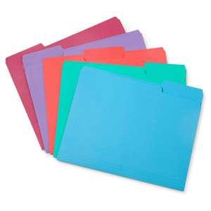 Blue Summit Color File Folders