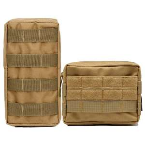 HOANAN Molle Pouch 2 Pack Tactical EDC Pouch for Military Backpack