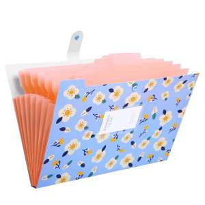 SKYDUE Floral Expanding File Folder with 8 Pockets