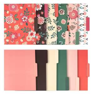 Juvale Decorative File Folders