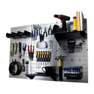 Wall Control 4 ft. Metal Pegboard Standard Tool Storage Kit