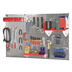 Wall Control Slotted Pegboard Industrial Workstation Accessory Kit