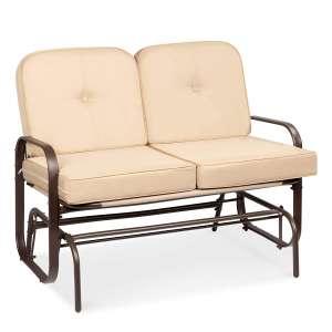 Best Choice Products Beige Garden Rocking Chair