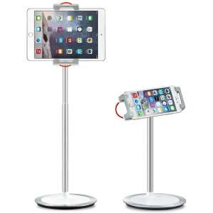 SAIJI 360 Degree Rotating Height Adjustable Tablet Floor Stand