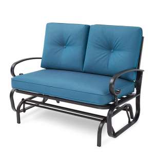Incbruce Peacock Blue Outdoor Rocking Chair
