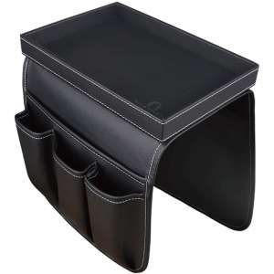 U NEATOPA Couch Organizer with a Detachable Tray (Black)