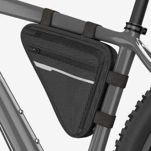 Velmia Functional Frame Bag Triangle Bike Bag with Reflective Elements and Secure Hold