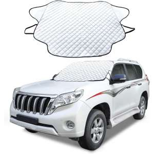 Cosyzone Car Windshield Winter Frost Cover with Wind-Proof Magnetic Edge