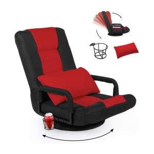 STHOUYN 360-Degree Swivel Gaming Recliner Floor Chair