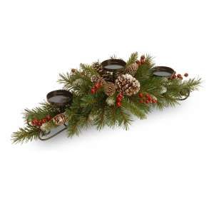 National Tree Artificial Christmas Candle Holder Centerpiece