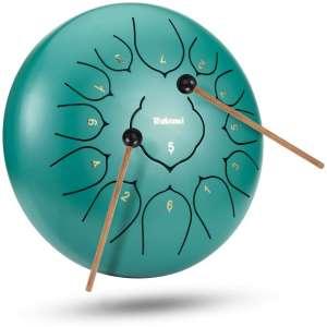 Rakumi 13-Note 12-Inch Steel Drum Percussion Instrument