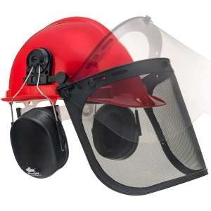 NoCry 6-in-1 Forestry Safety Helmet with 2 Protective Visors