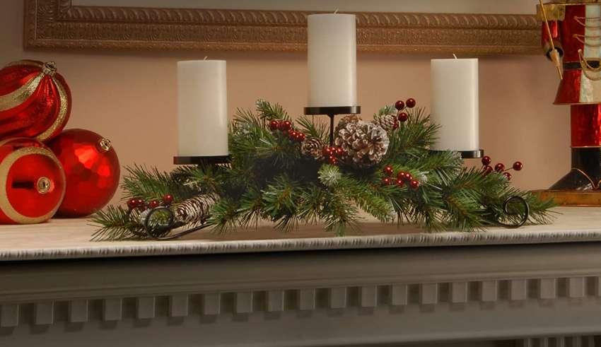 Artificial Christmas Centerpieces