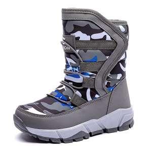 BODATU Boys Outdoor Waterproof Kids Snow Boots