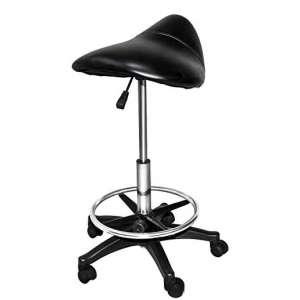 Chromium Professional Saddle Stool 360-Degrees