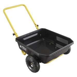 Gorilla Carts 4 Cubic Feet 300lbs Poly Yard Cart