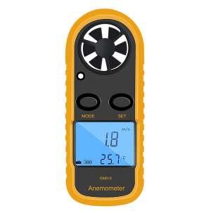 Qotone Digital Anemometer Wind-Speed LCD Airflow