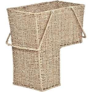 Trademark Innovations 15-Inch Wicker Stair Basket